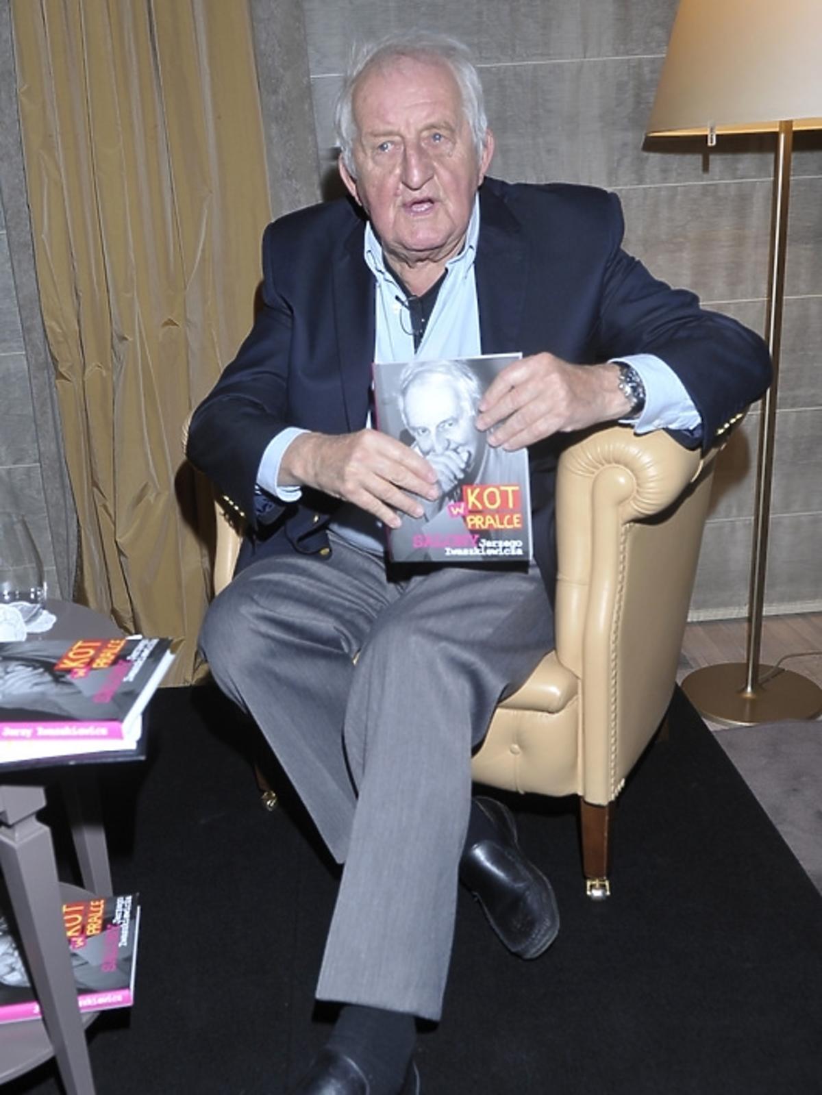 Jerzy Iwaszkiewicz na premierze swojej książki