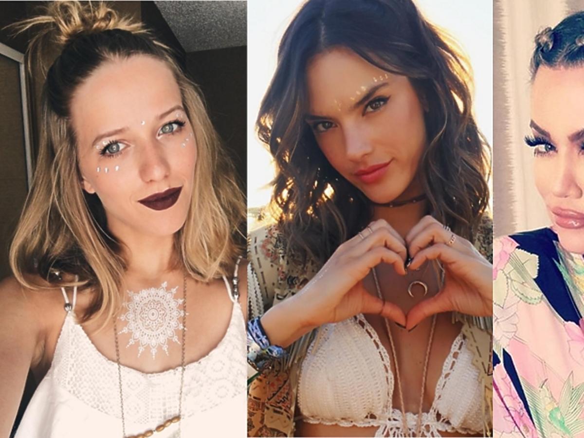 Jessica Mercedes, Alessandra Ambrosio, Khloe Kardashian w oryginalnych fryzurach i makijażach