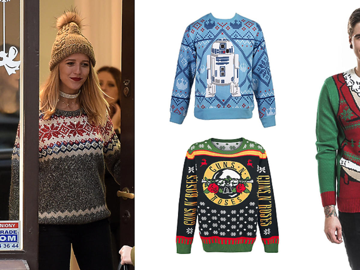 Jessica Mercedes, śmieszne świąteczne swetry: H&M, Reserved, Sinsay, House, New Look, Topman