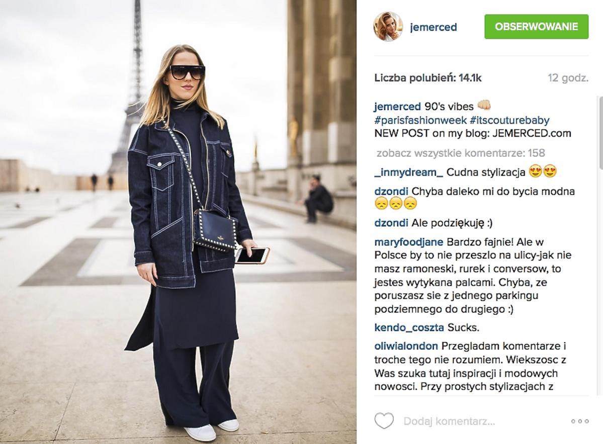 Jessica Mercedes w dżinsowej kurtce