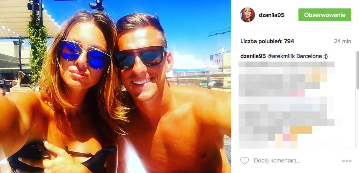 Jessica Ziółek i Arek Milik bez koszulki na wakacjach