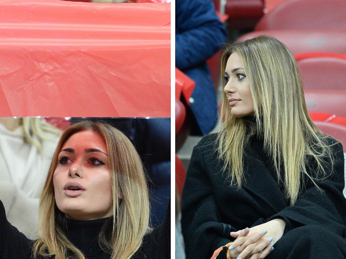 Jessica Ziółek na meczu Polska-Łotwa