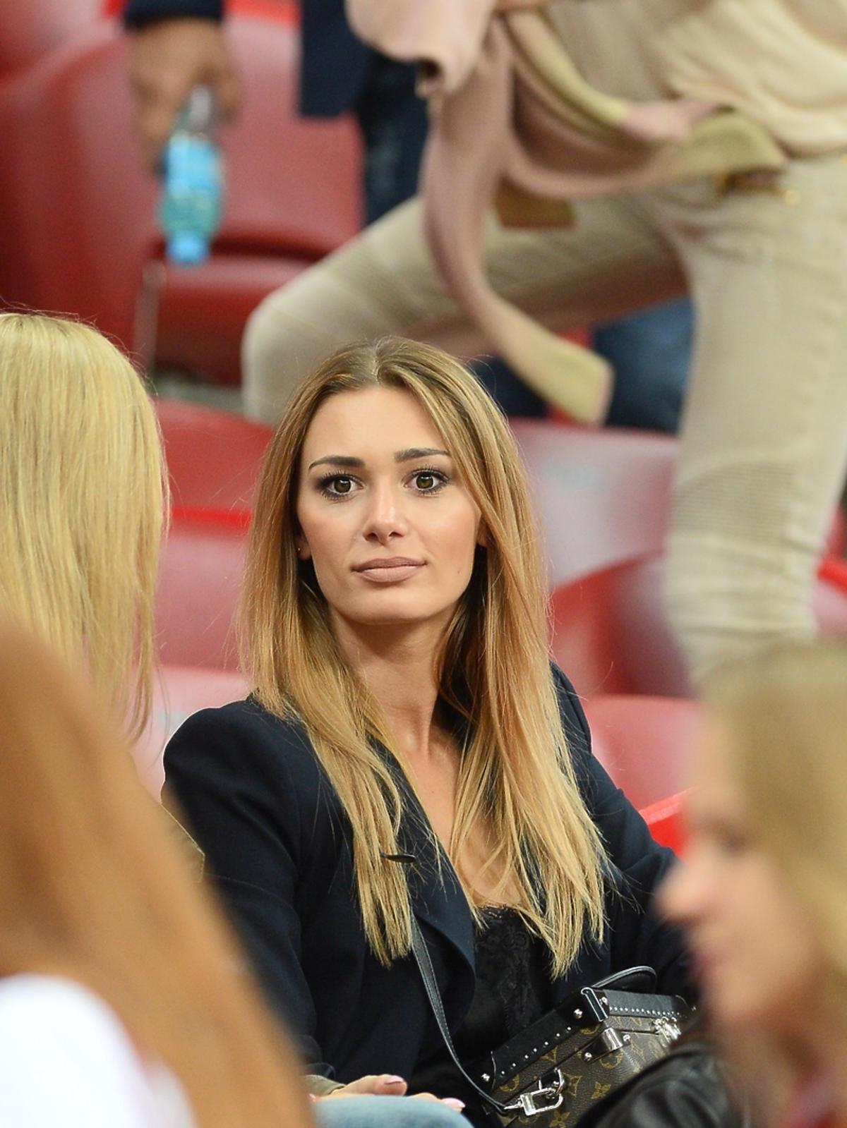 Jessica Ziółek na meczu Polska Rumunia