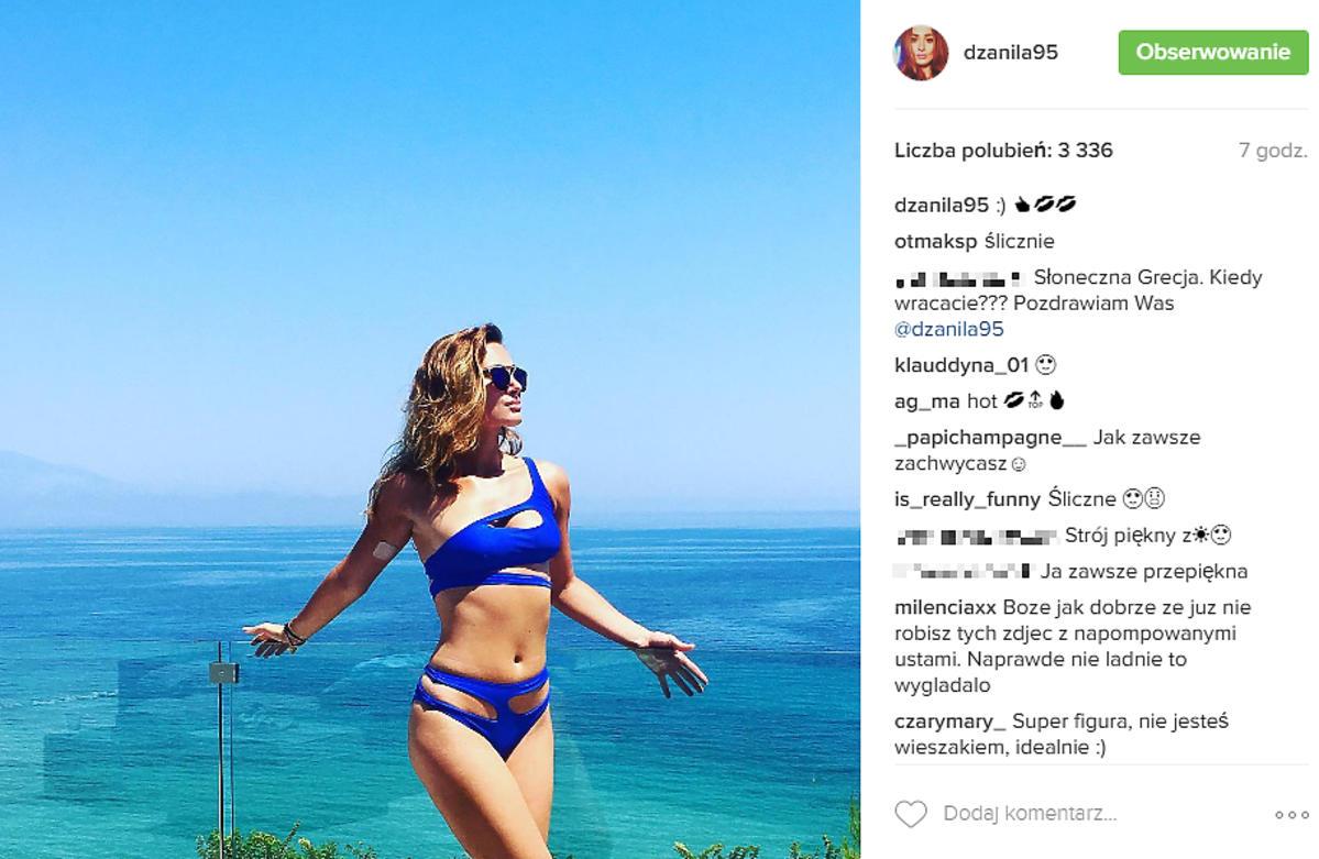 Jessica Ziółek w granatowym bikini