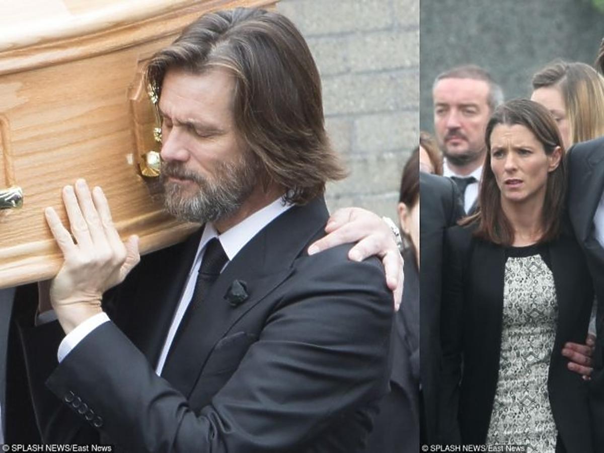 Jim Carrey płacze na pogrzebie swojej dziewczyny