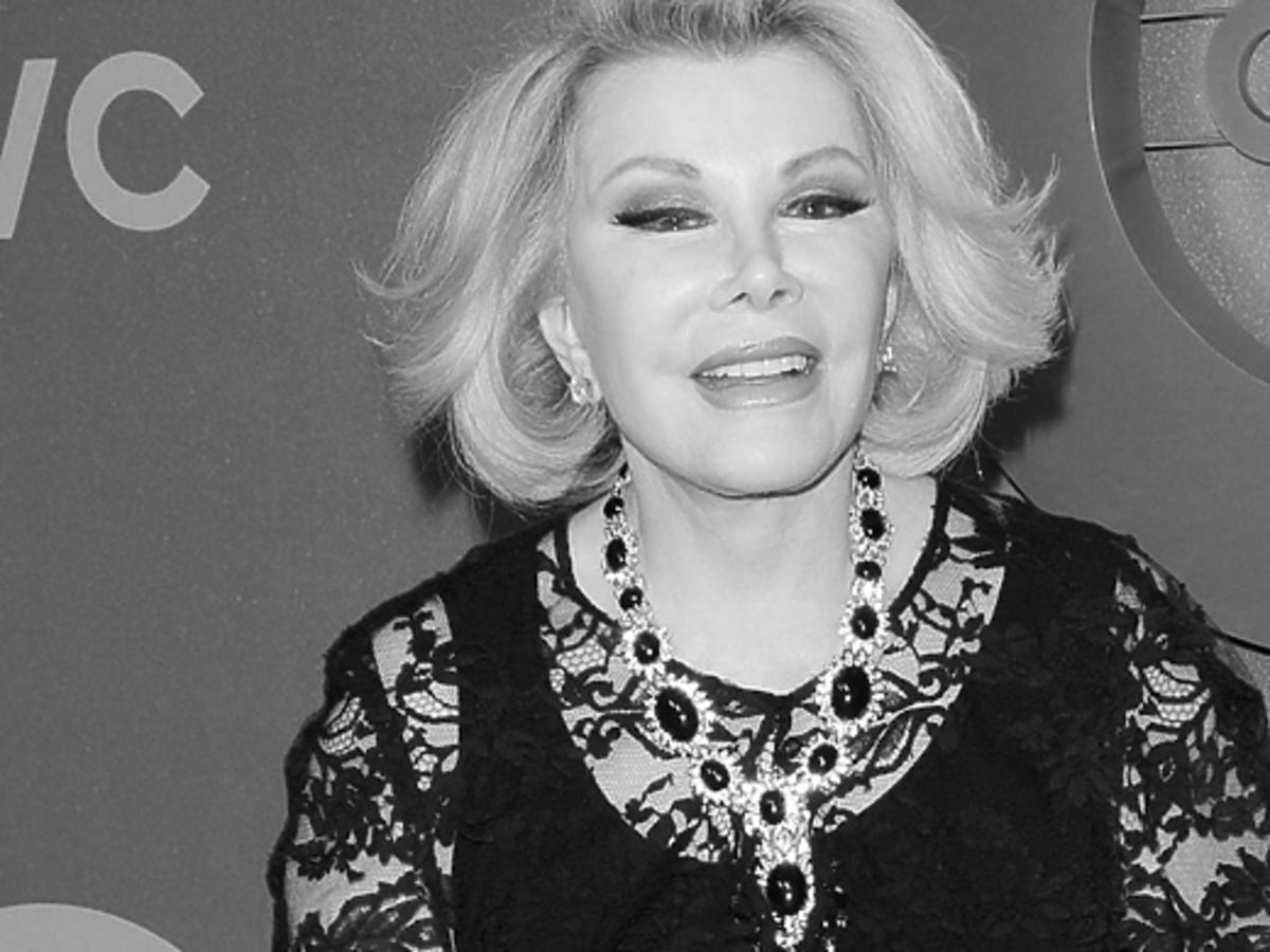 Joan Rivers nie żyje. Zmarła Joan Rivers. Na co zmarła Joan Rivers. Pogrzeb Joan Rivers