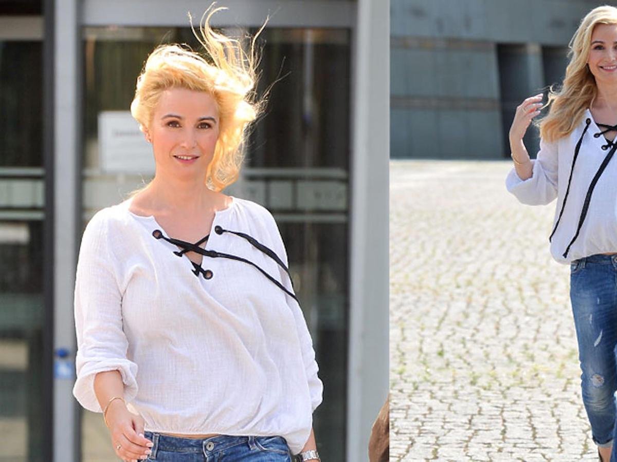Joanna Brodzik ma bardzo jasne blond wlosy