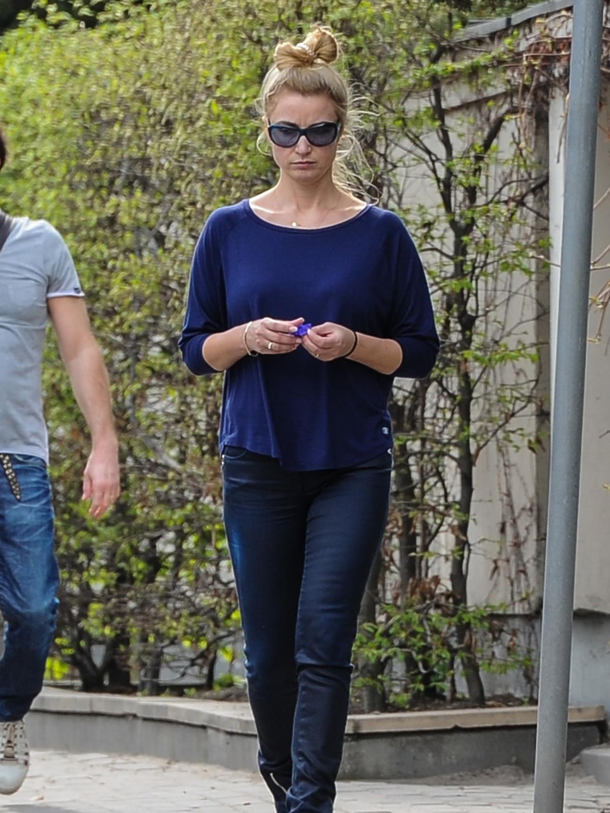 Joanna Brodzik na spacerze z rodziną
