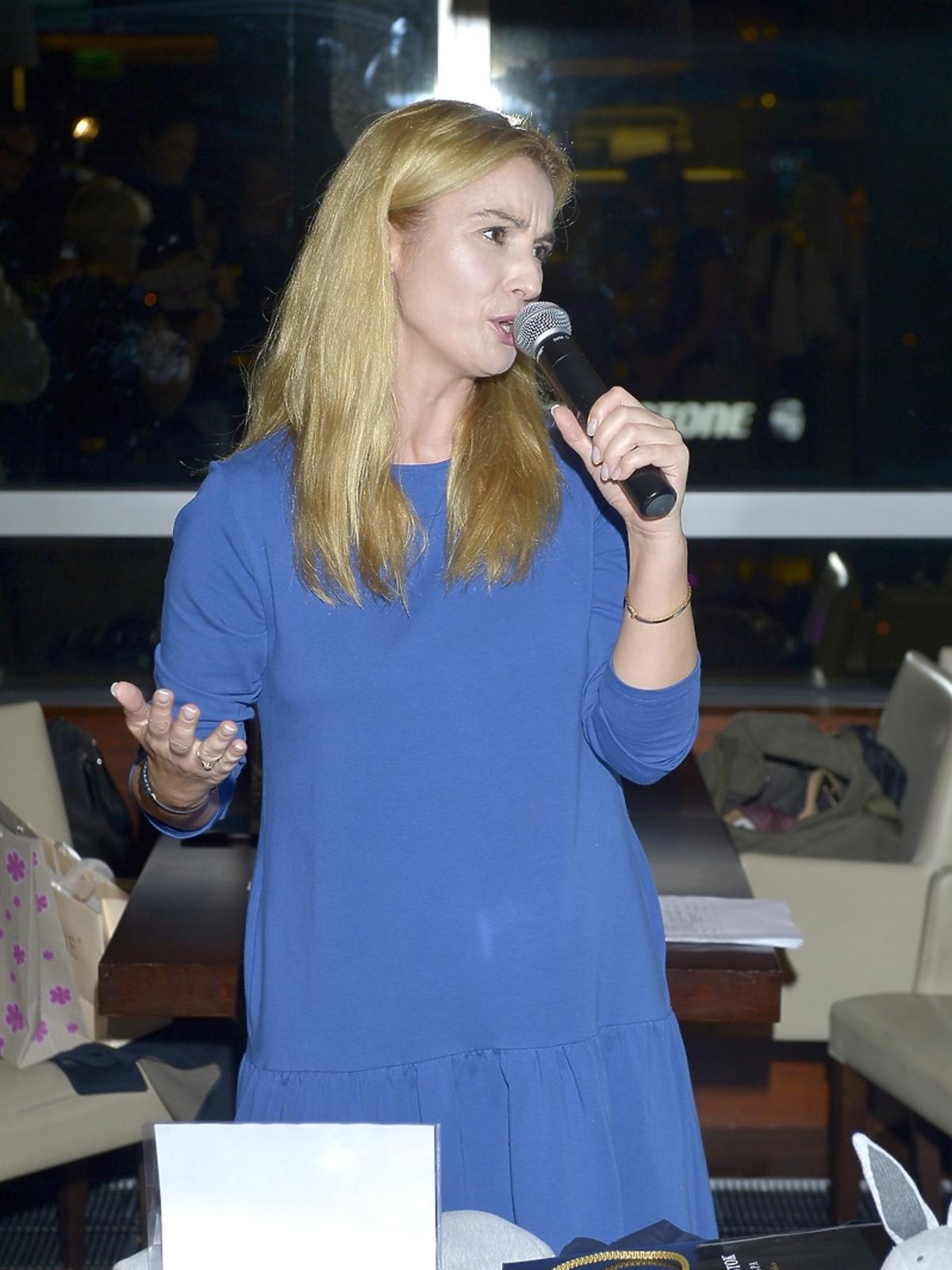 Joanna Brodzik podczas aukcji dla Leo