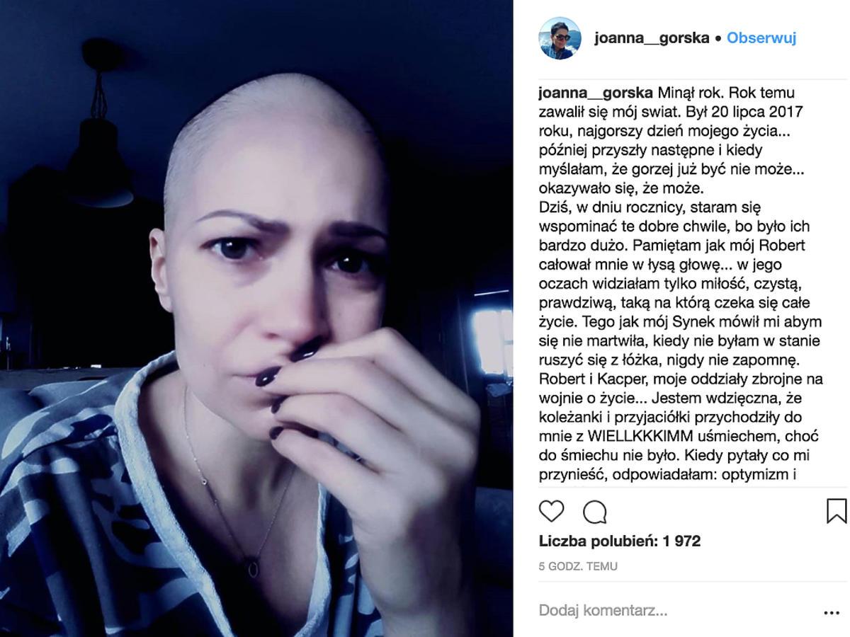 Joanna Górska na Instagramie