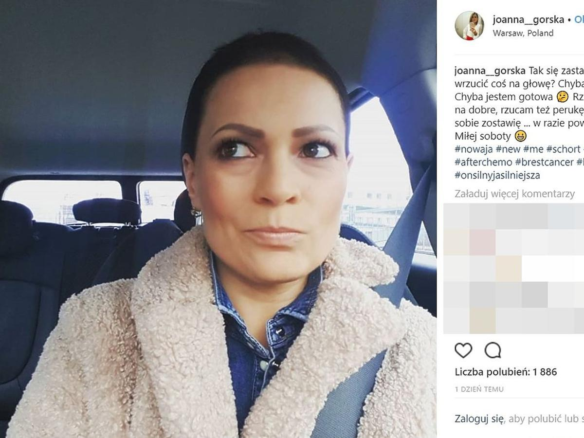 Joanna Górska pokazała zdjęcie bez peruki