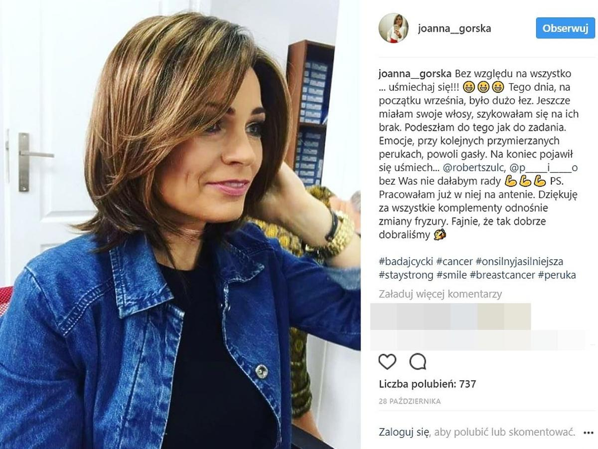 Joanna Górska walczy z rakiem