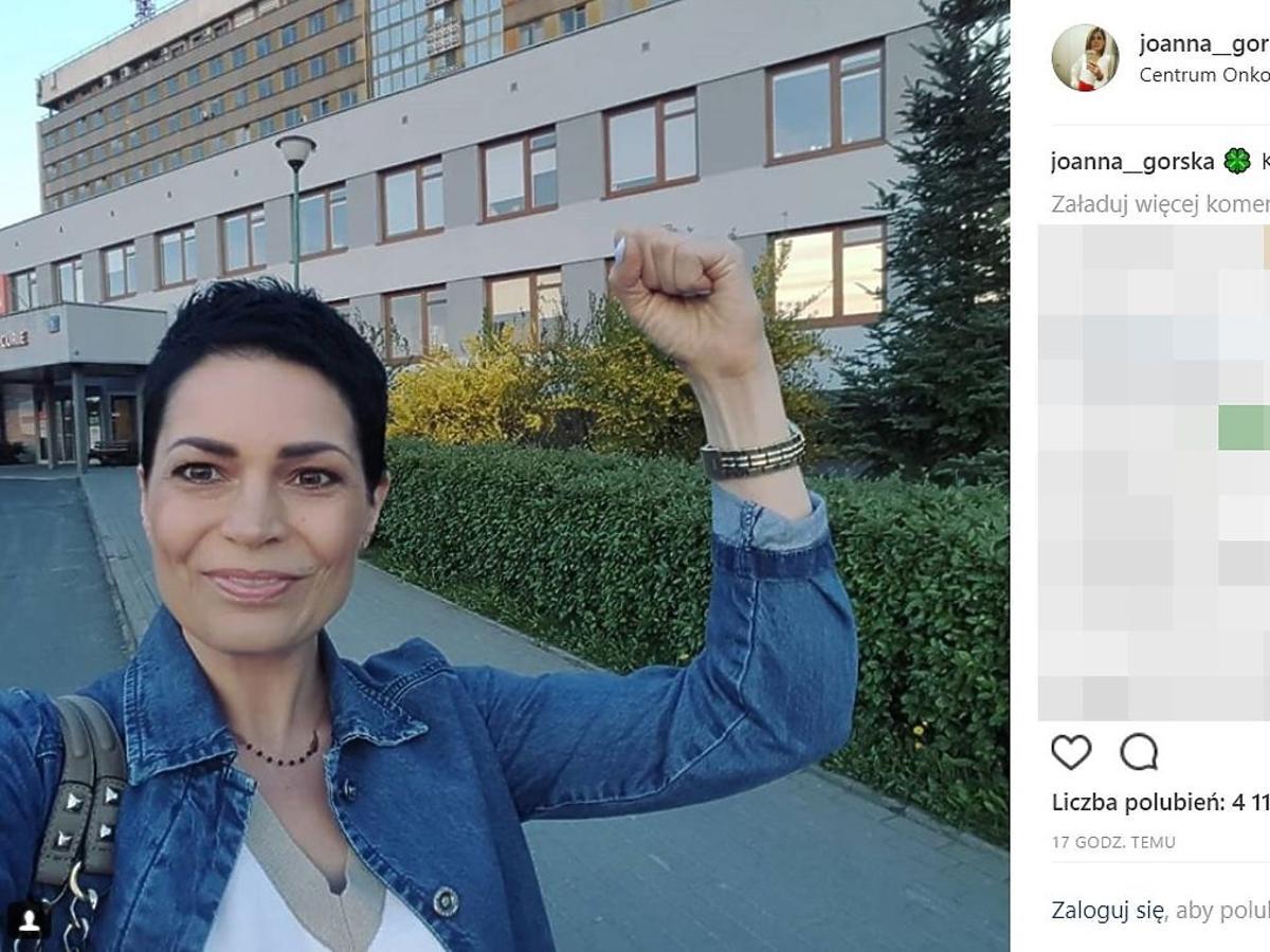 Joanna Górska zakończyła leczenie