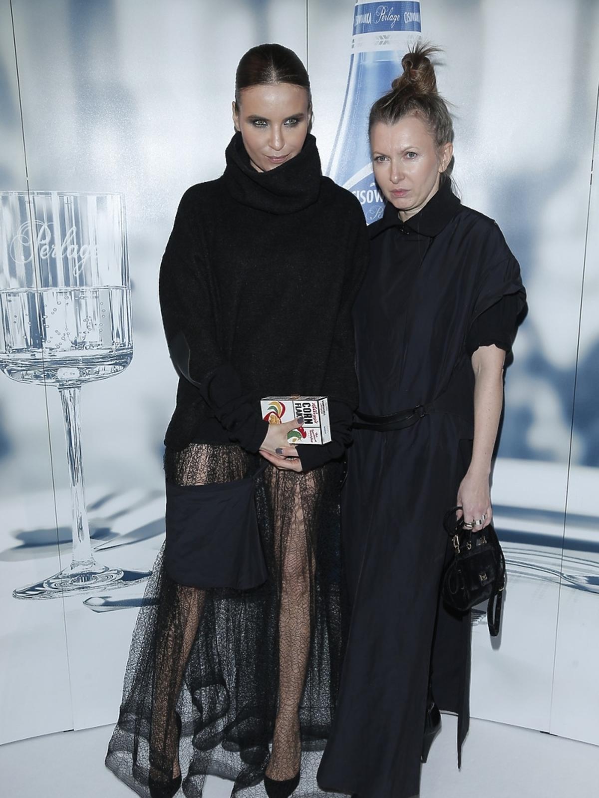 Joanna Horodyńska i Ilona Majer na pokazie Bohoboco