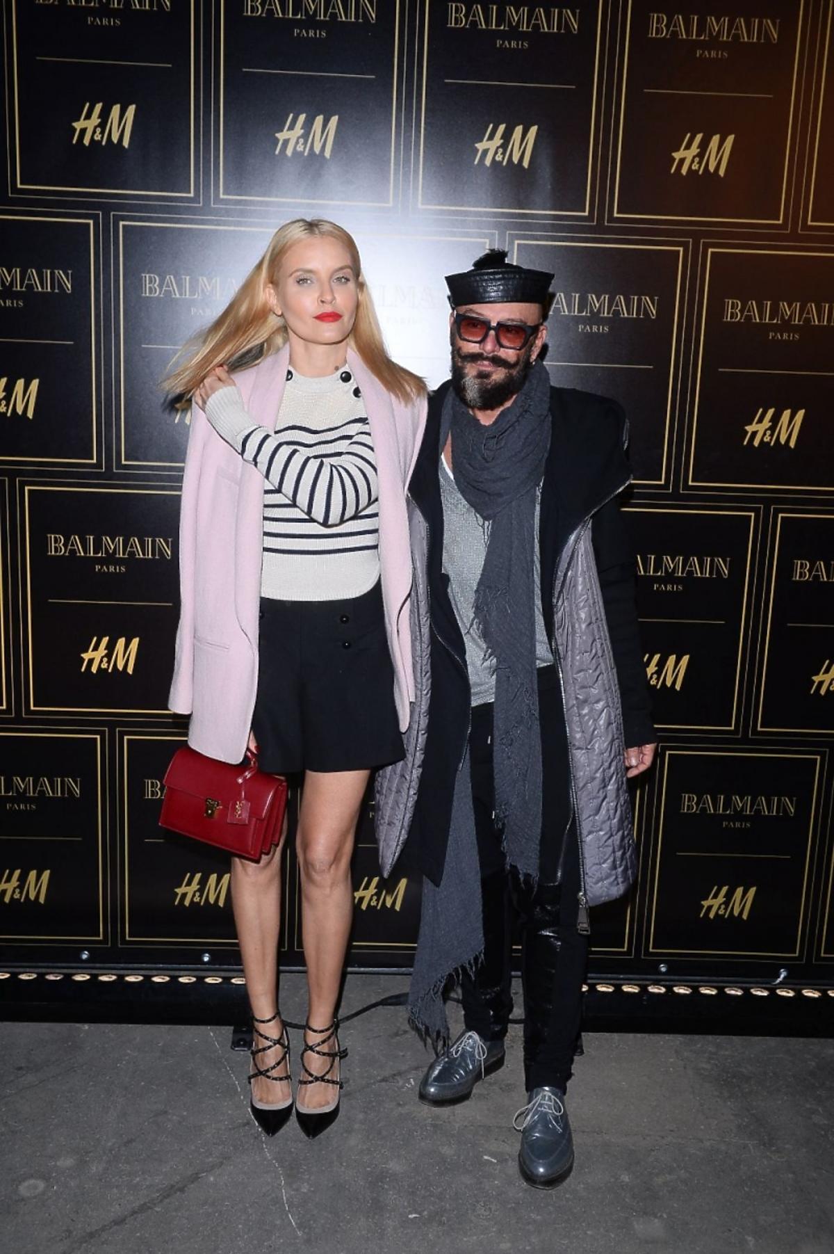 Joanna Horodyńska i Tomasz Jacyków na prezentacji Balmain dla H&M