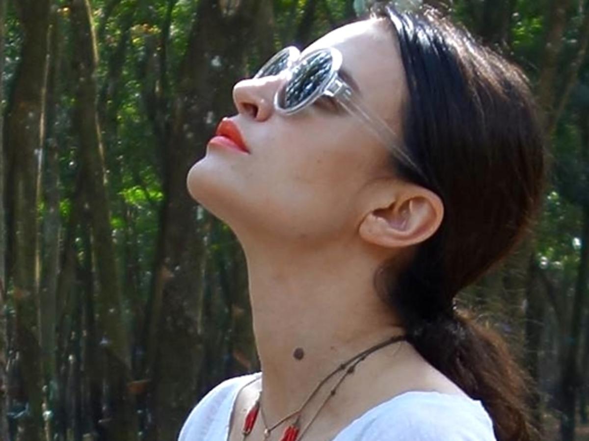 Joanna Horodyńska medytuje w klasztorze