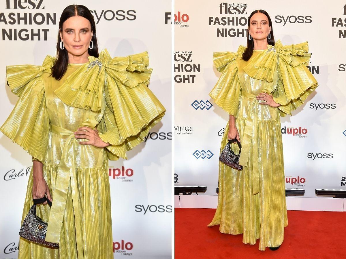 Joanna Horodyńska na Flesz Fashion Night 2021 w sukni MMC