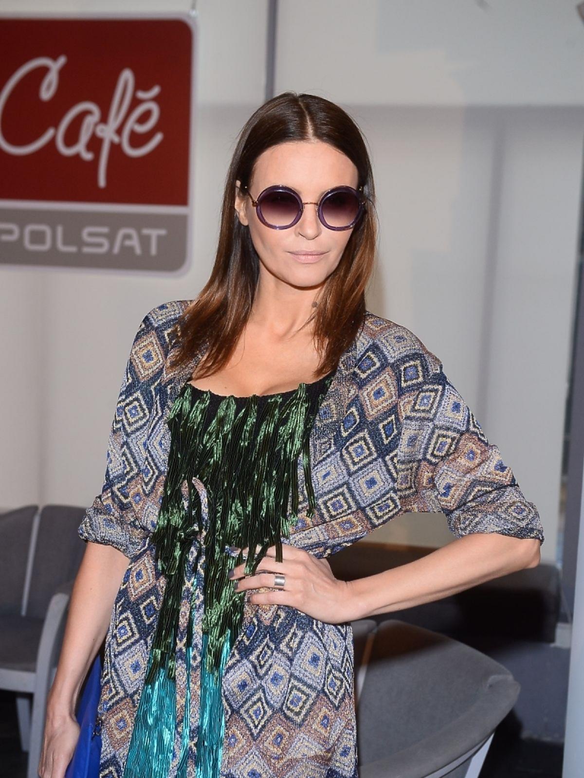 Joanna Horodyńska na prezentacji wiosennej ramówki Polsat Cafe