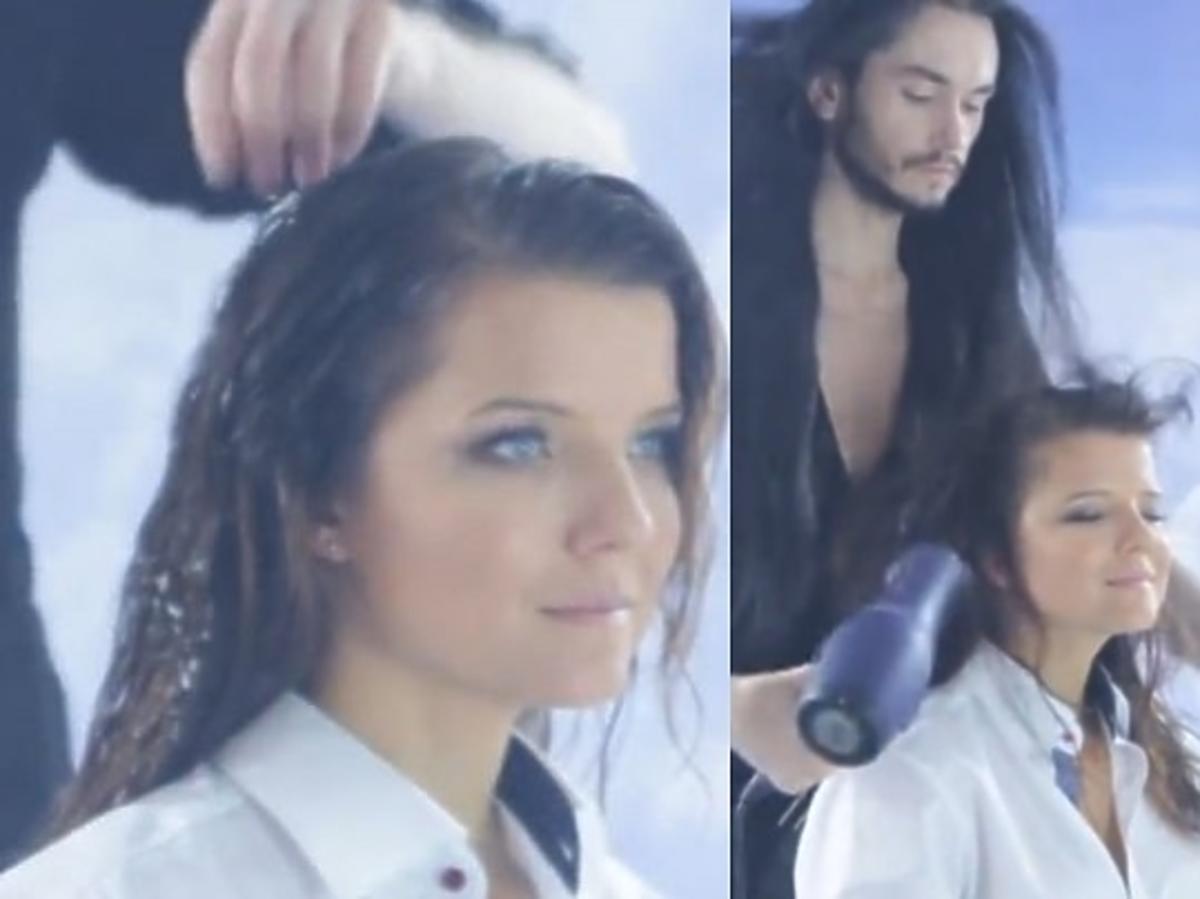 Joanna Horodyńska u fryzjera