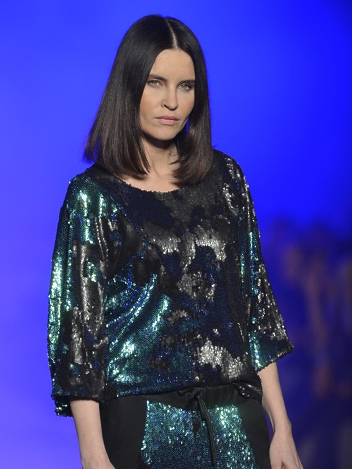 Joanna Horodyńska w roli modelki na Fashion Weeku