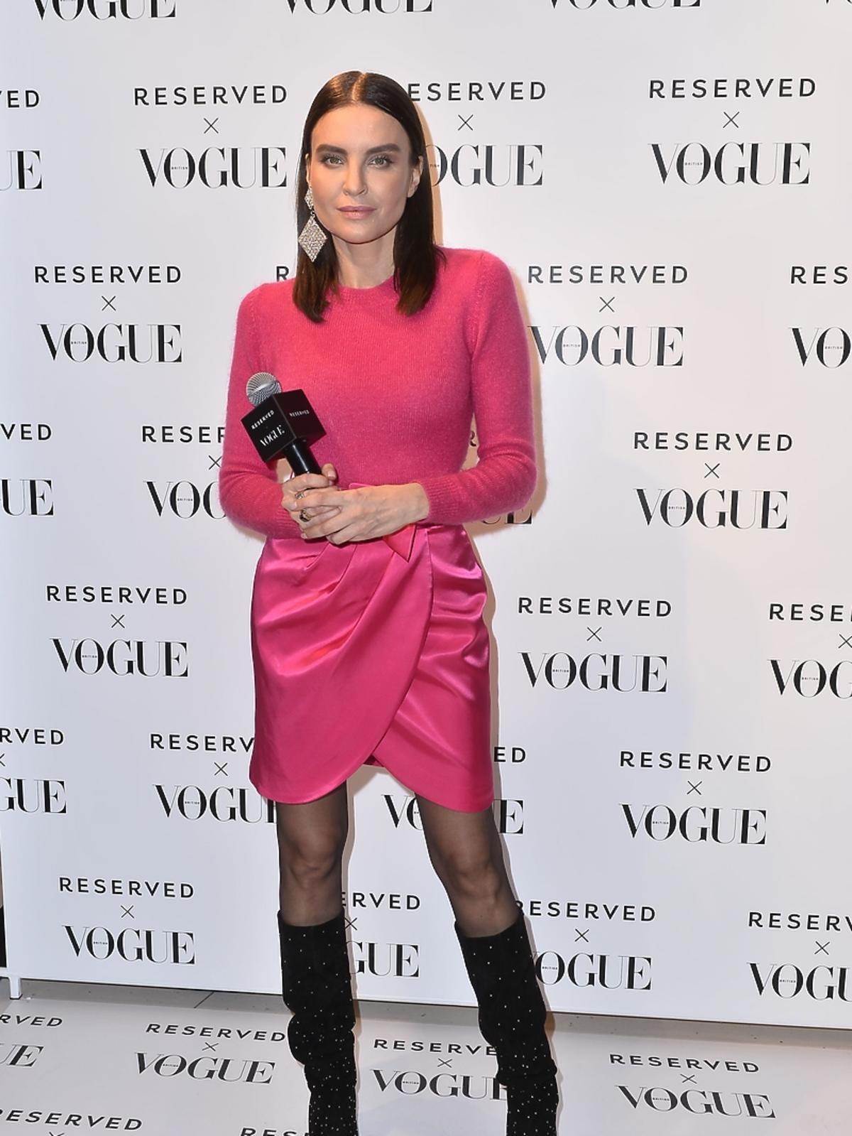 Joanna Horodyńska w różowej stylizacji Reserved