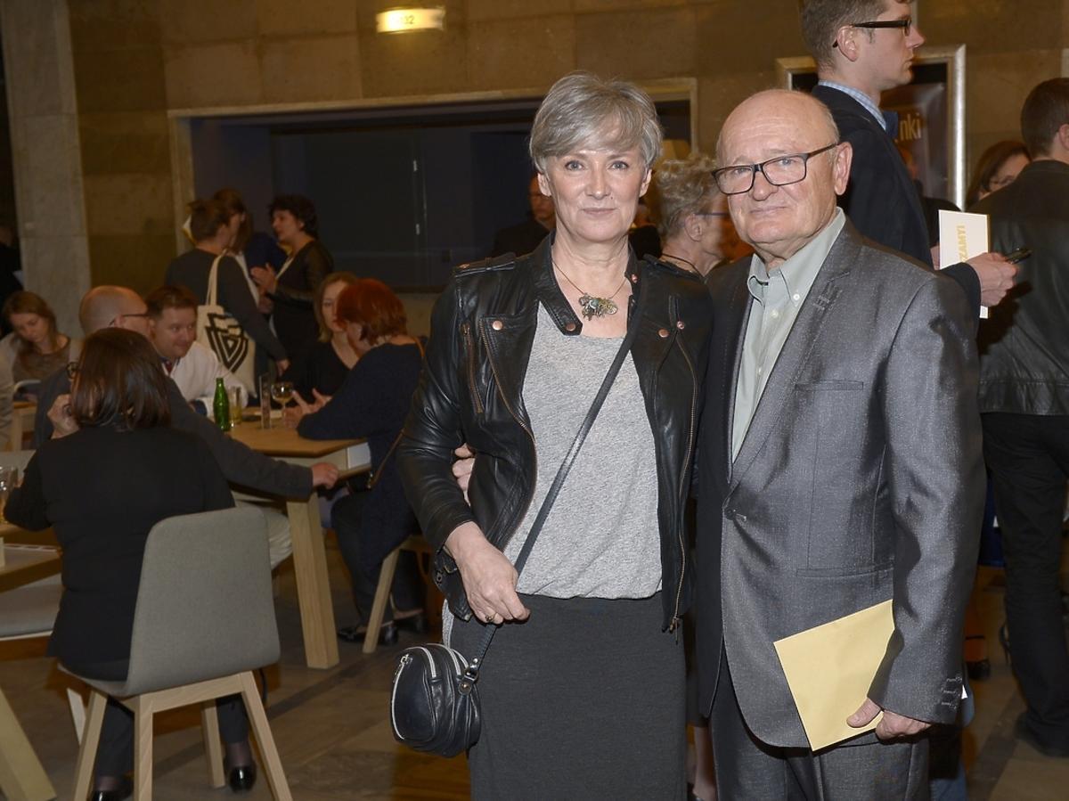 Joanna i Maciej Damięccy na premierze spektaklu