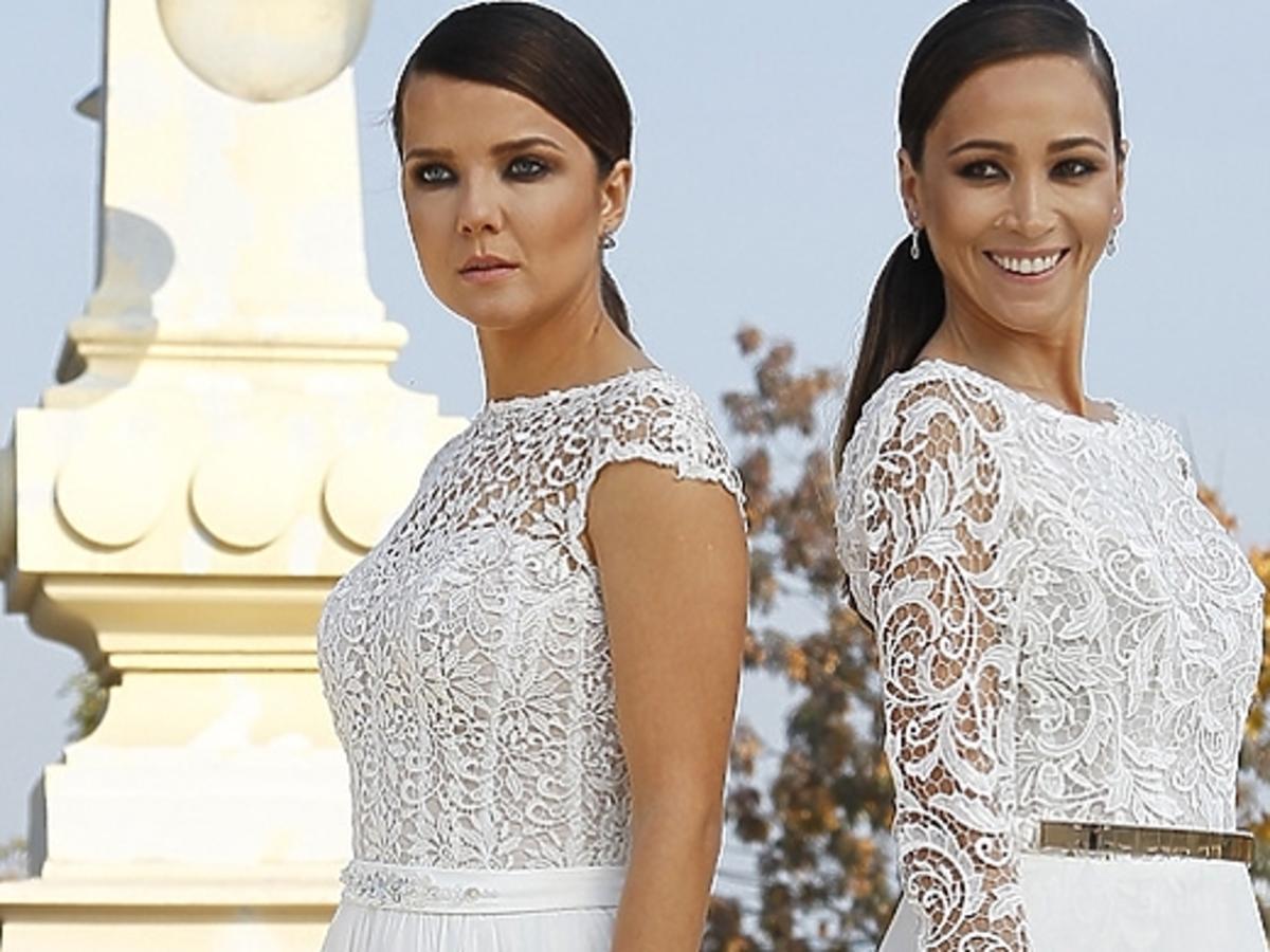 Joanna Jabłczyńska i Dorota Czaja w sesji sukien ślubnych Violi Piekut