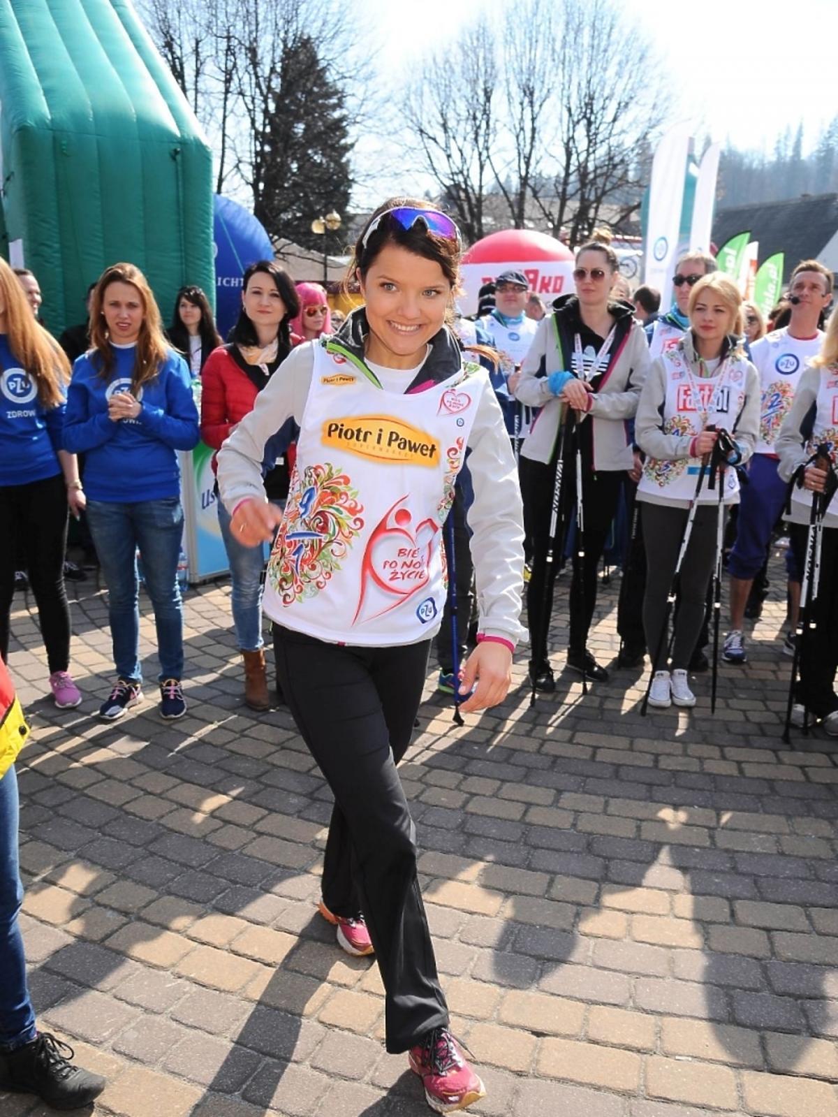 Joanna Jabłczyńska na charytatywnym biegu