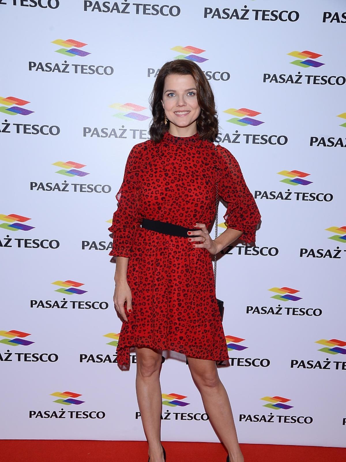 Joanna Jabłczyńska na imprezie Tesco