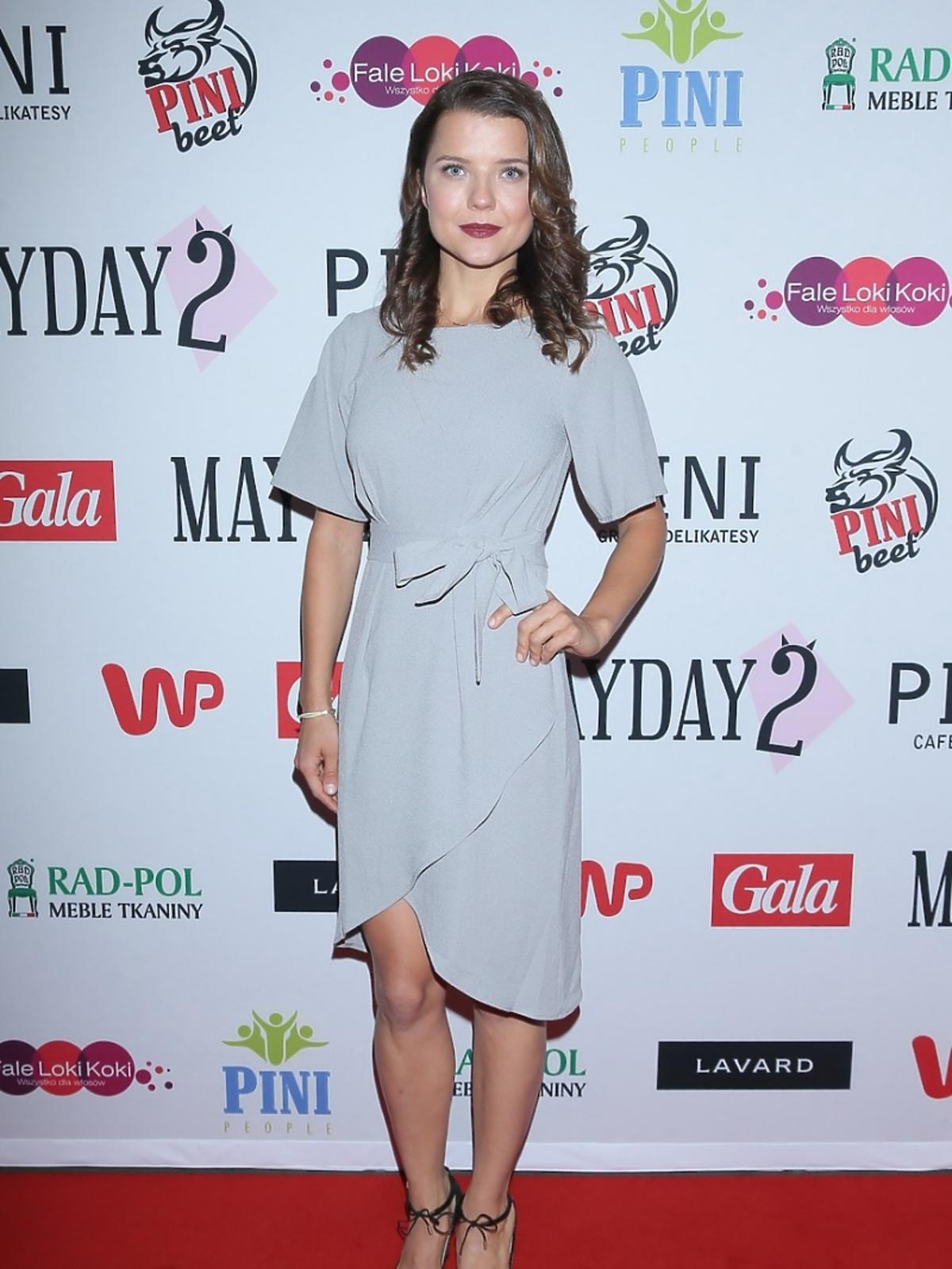 Joanna Jabłczyńska na premierze spektaklu Mayday 2