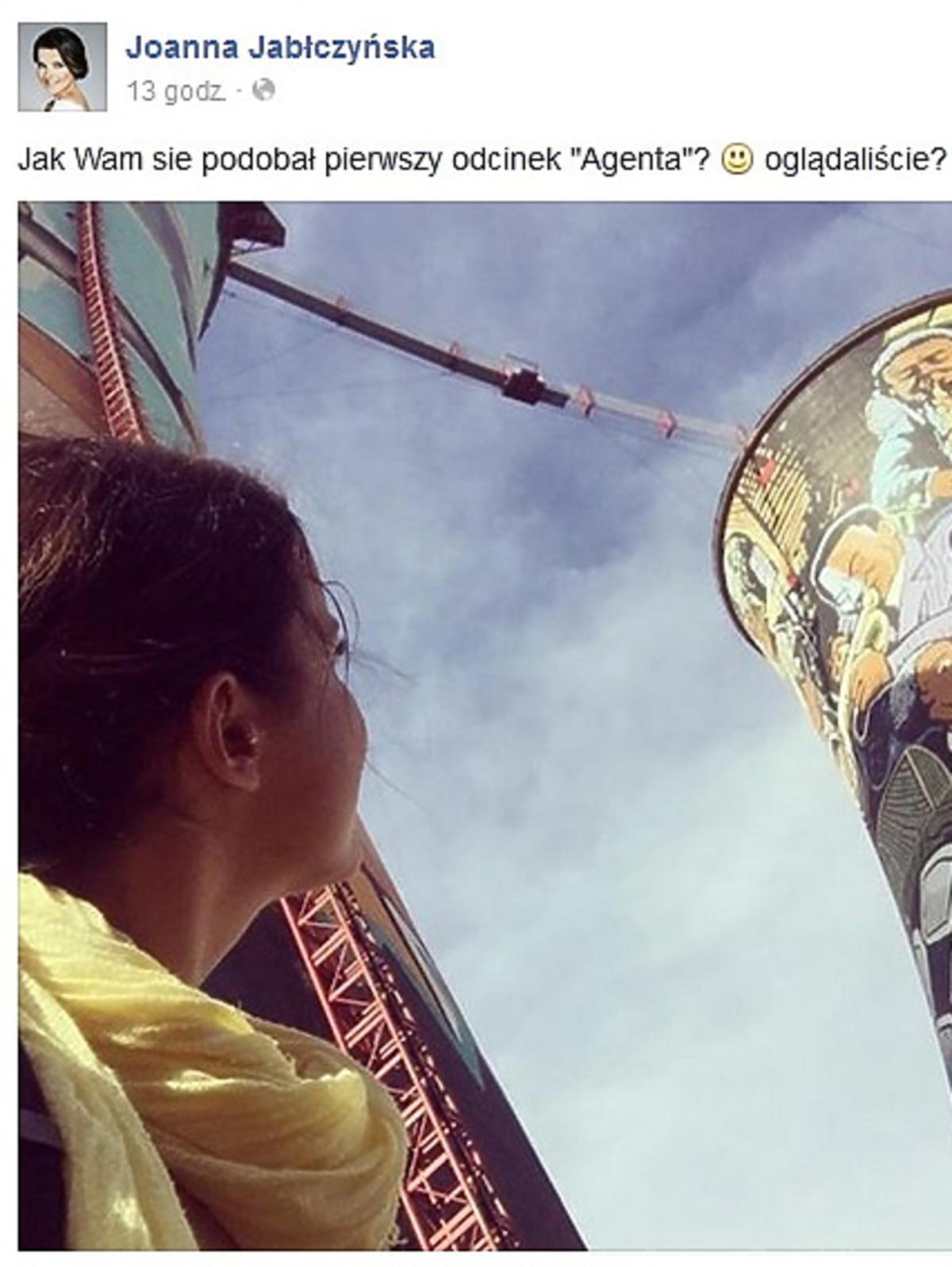 Joanna Jabłczyńska pokazała zdjęcia z planu Agenta