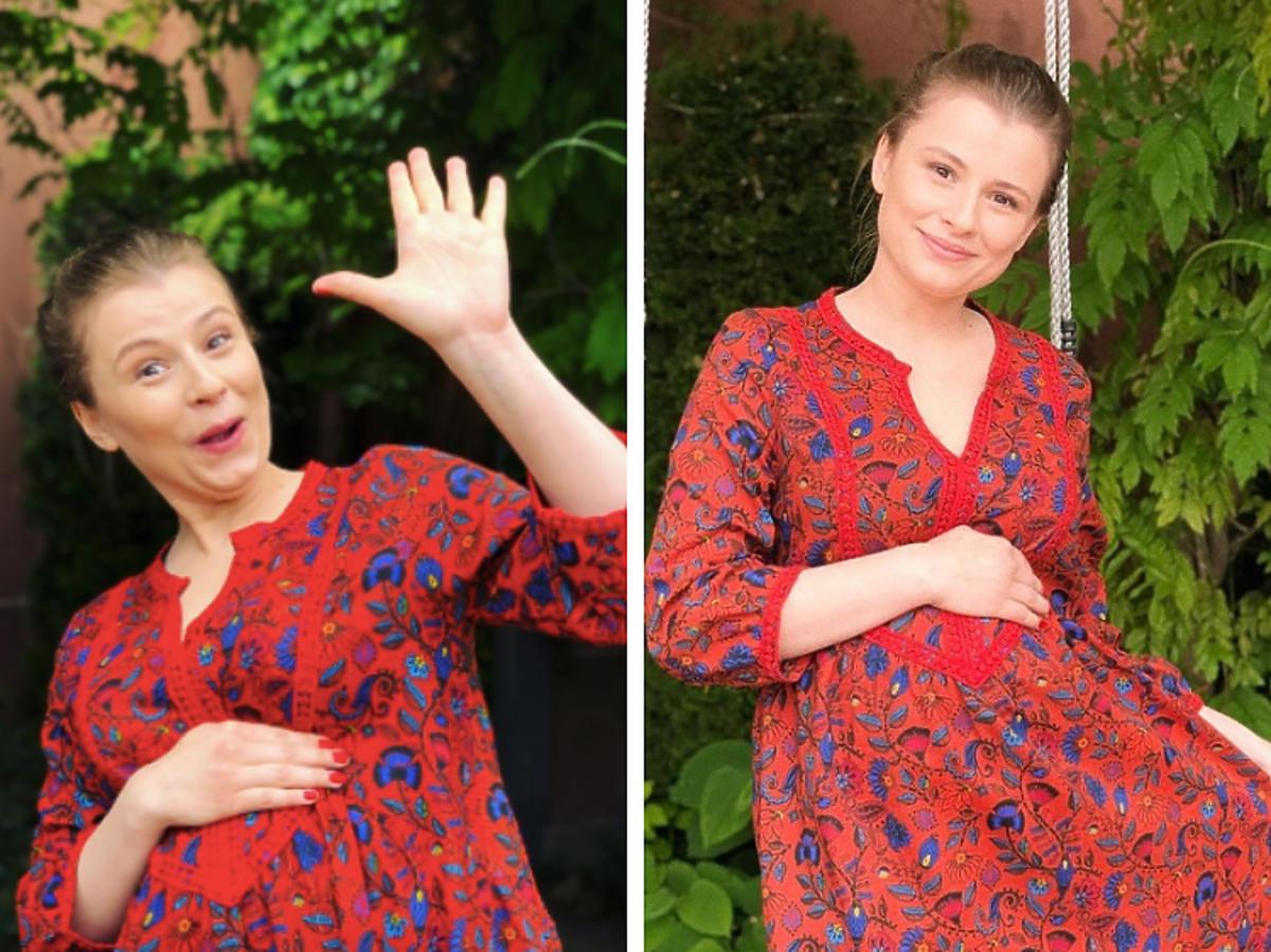 Joanna Jarmłowicz  w ciąży