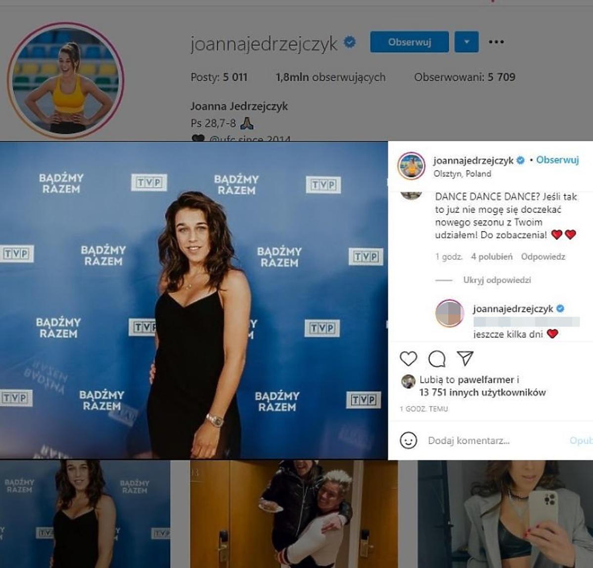 Joanna Jędrzejczyk w nowym show TVP piksele