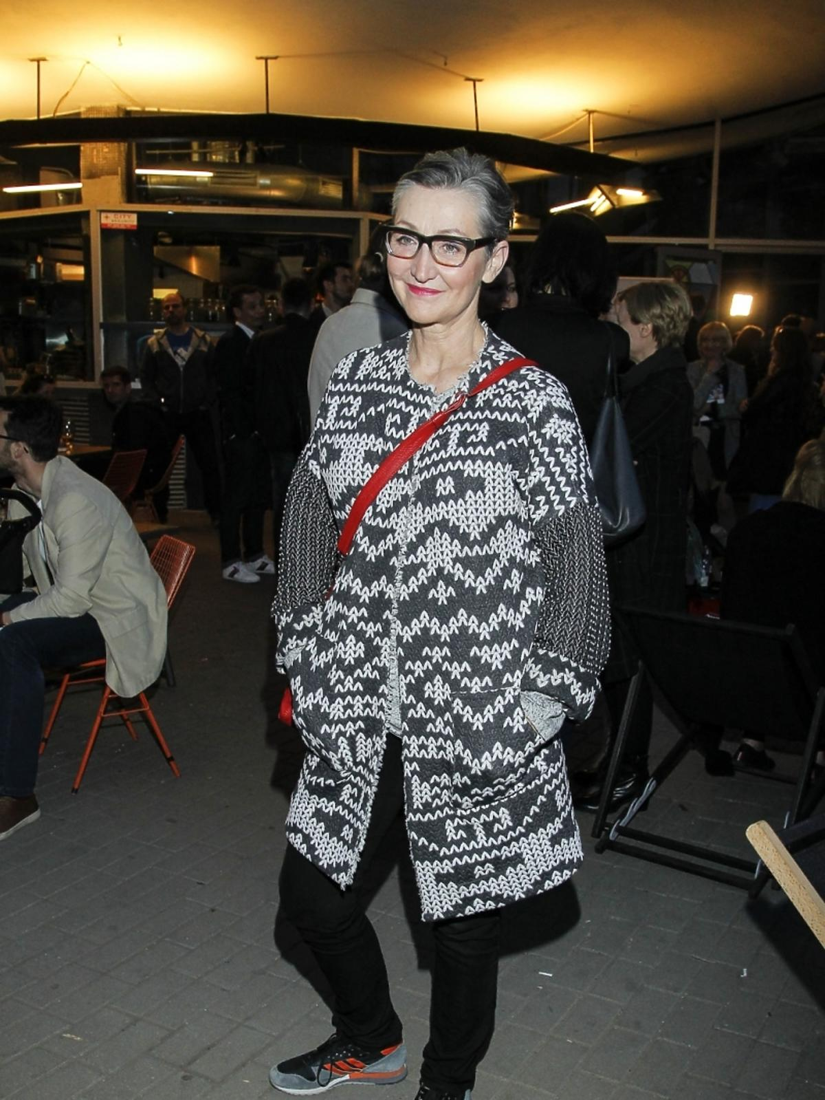 Joanna Klimas na premierze książki Beaty Sadowskiej