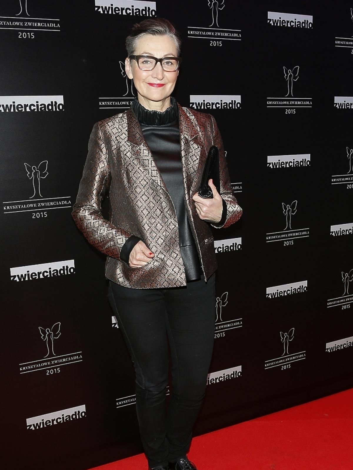 Joanna Klimas na rozdaniu nagród Kryształowe Zwierciadła