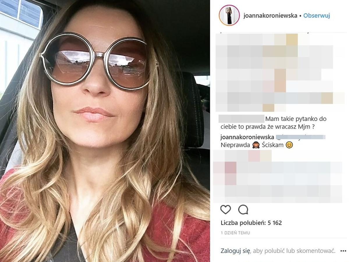 Joanna Koroniewska wraca do