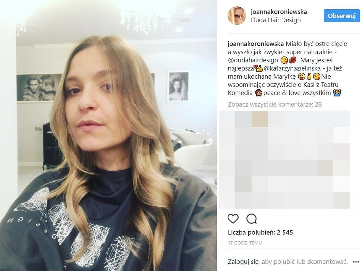 Joanna Koroniewska zmieniła fryzurę