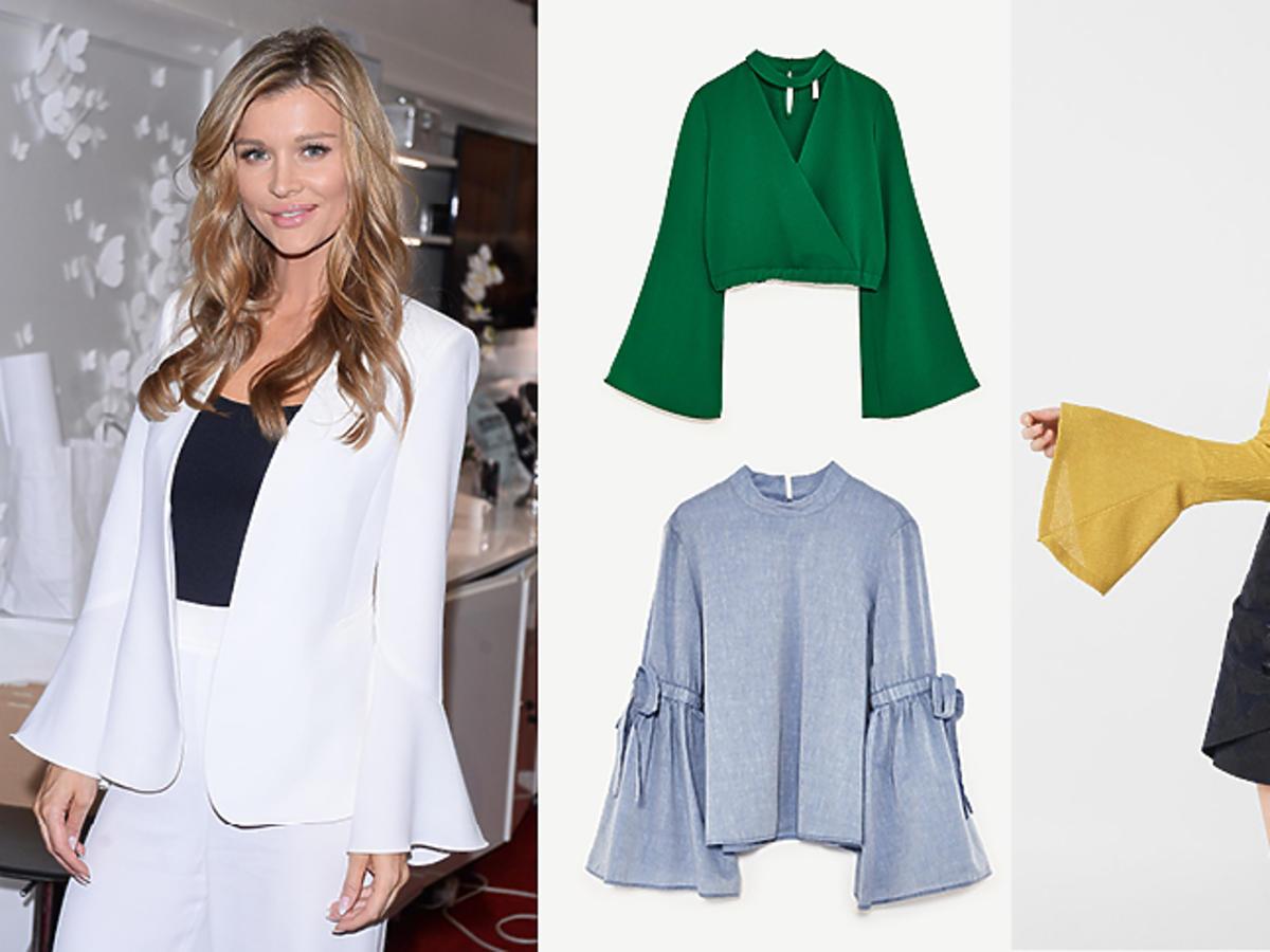 Joanna Krupa, bluzki koszule z szerokimi rękawami: Zara, H&M, & Other Stories, Mango