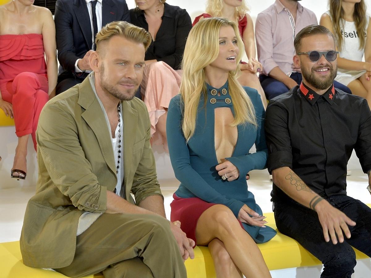 Joanna Krupa, Dawid Woliński i Michał Piróg podczas prezentacji jesiennej ramówki TVN