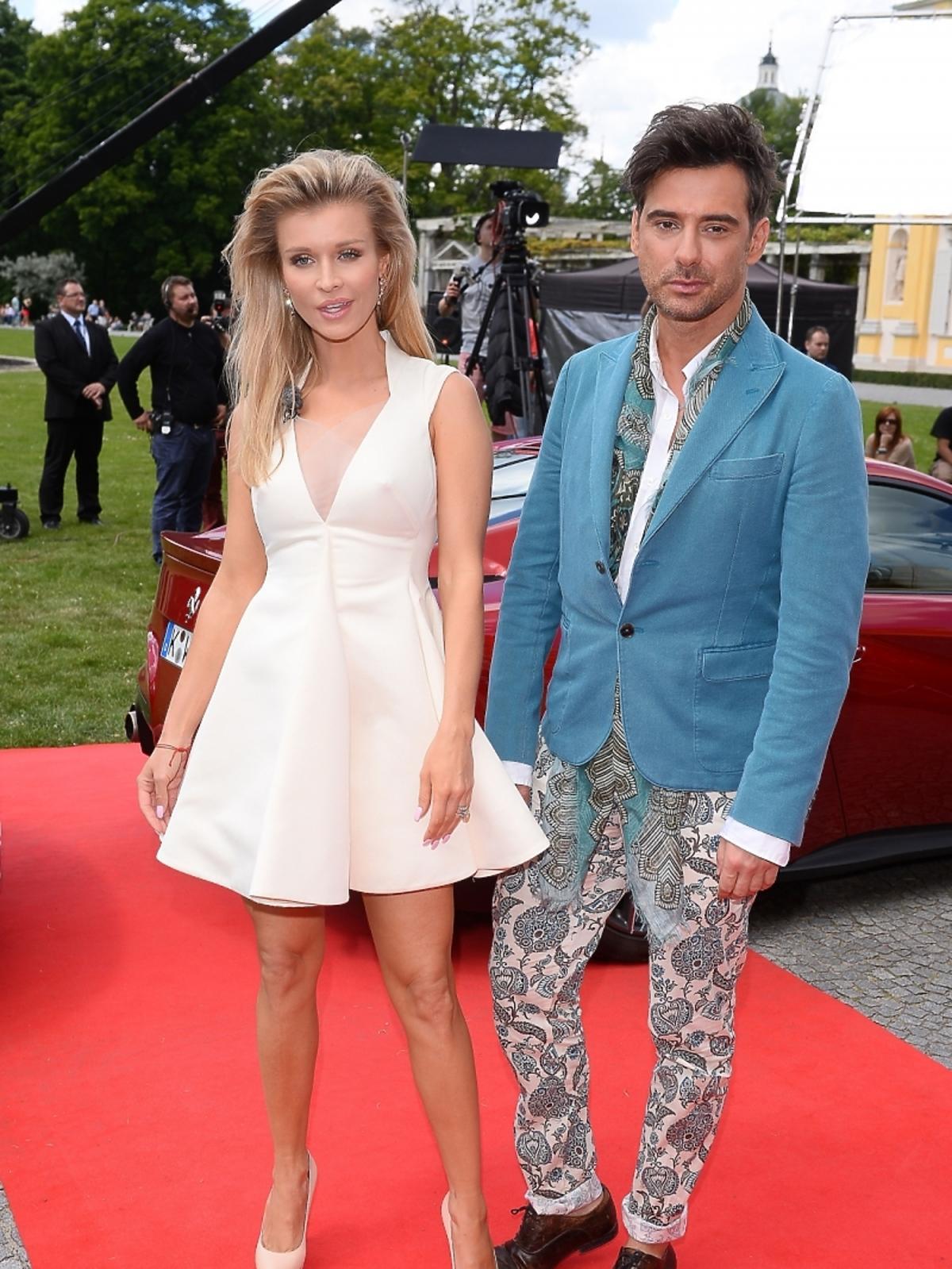 Joanna Krupa i Marcin Tyszka na castingu Top Model 4 w Warszawie