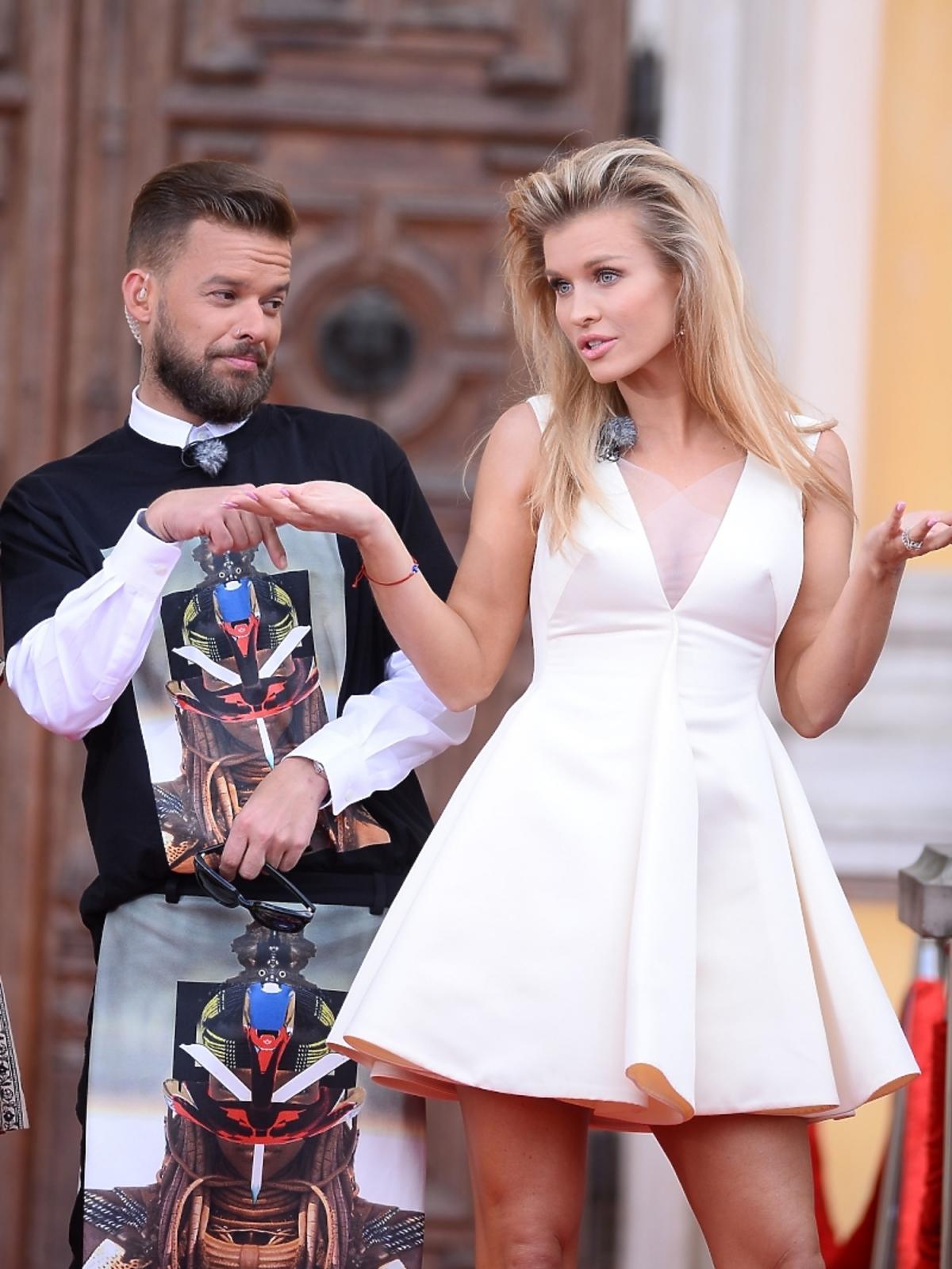 Joanna Krupa i Michał Piróg na castingu Top Model 4 w Warszawie
