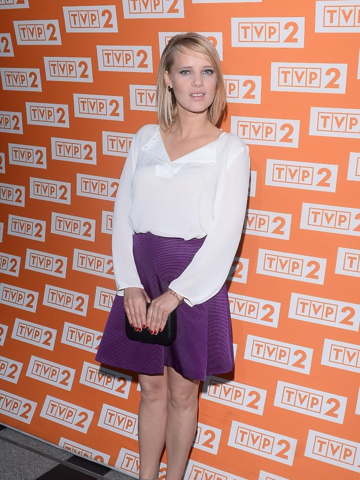 Joanna Kulig na konferencji serialu