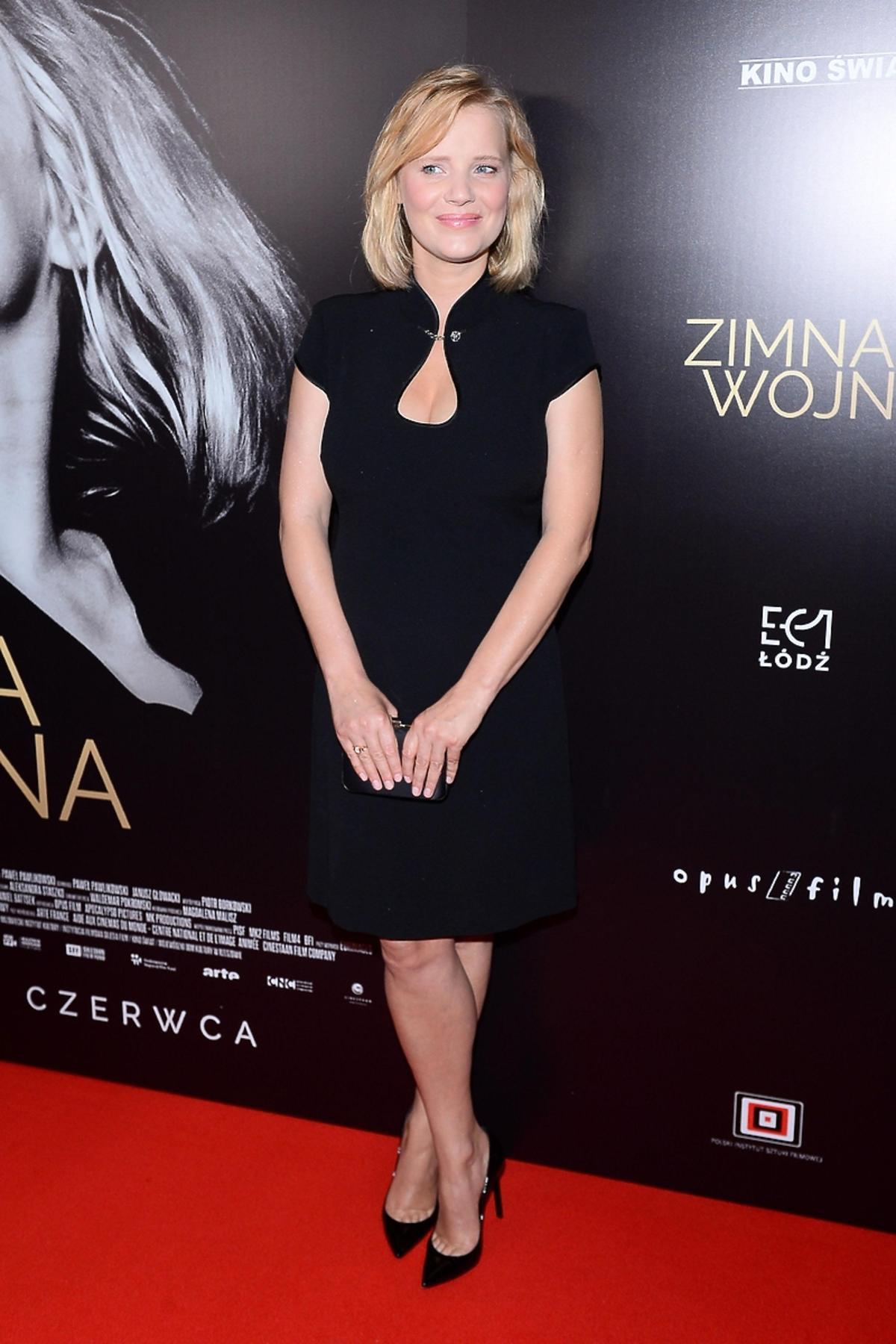 Joanna Kulig na premierze filmu