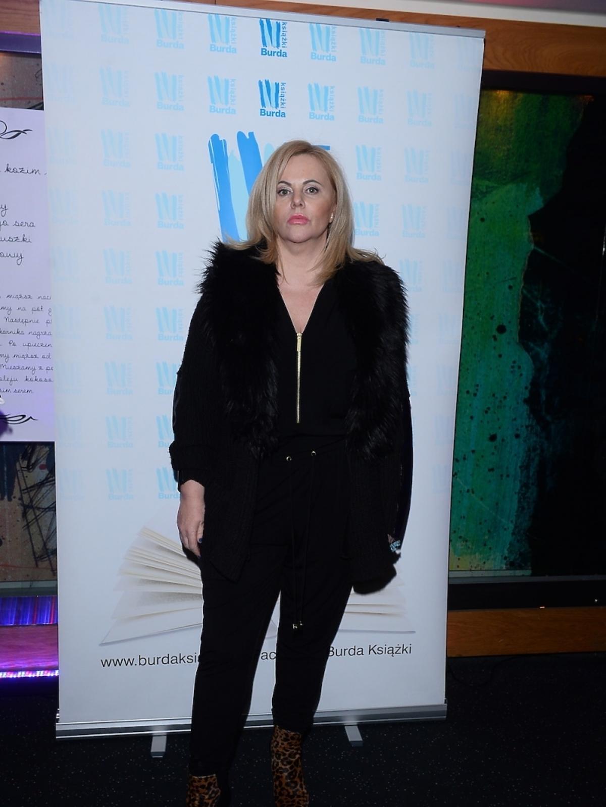 Joanna Kurowska na premierze książki Agaty Młynarskiej