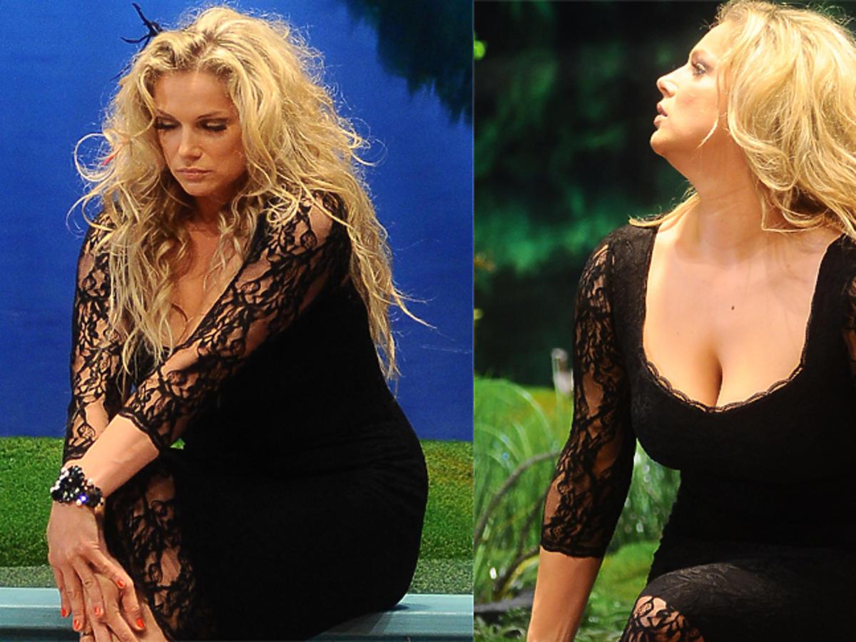 Joanna Liszowska w czarnej sukience