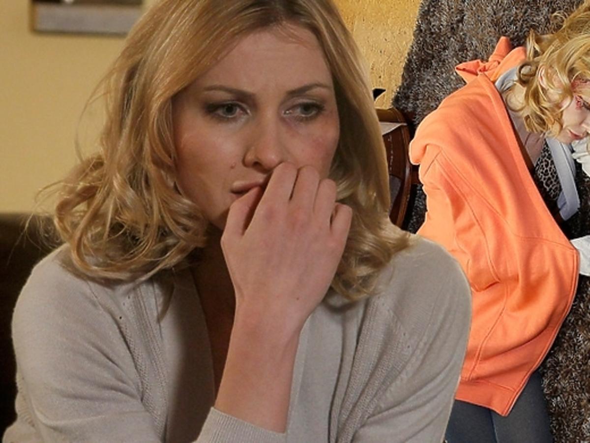 Joanna Moro na planie serialu Ojciec Mateusz