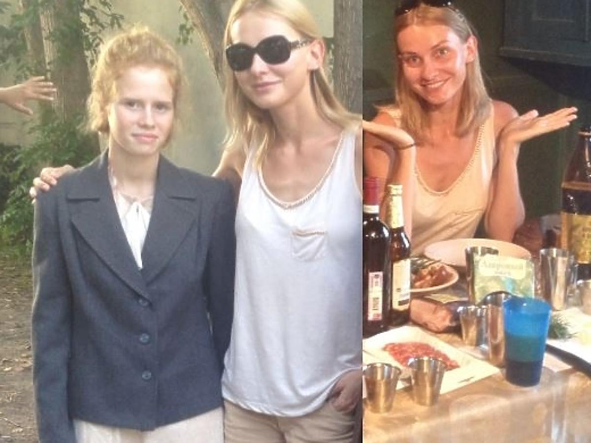 Joanna Moro na planie w Rosji