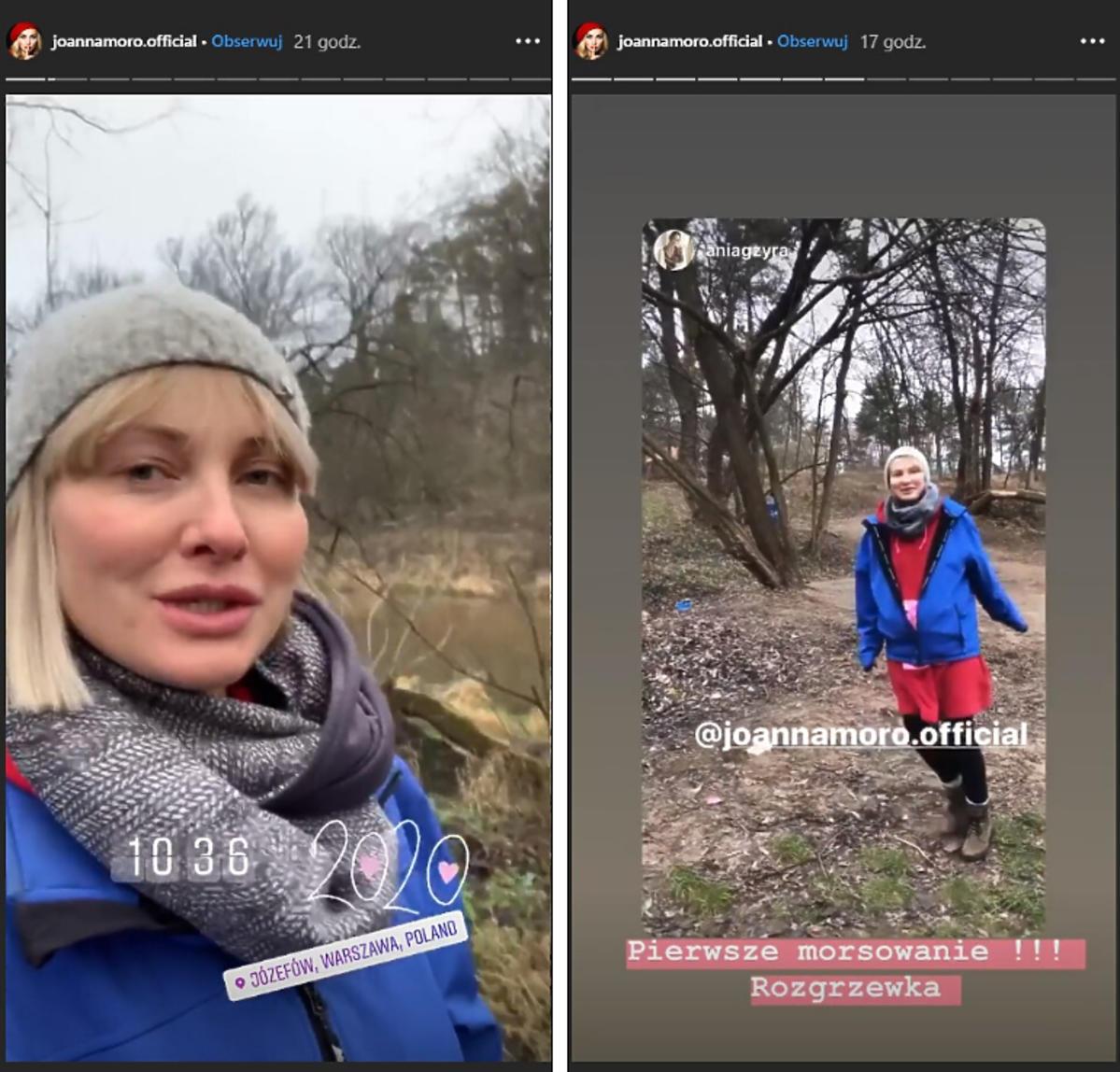 Joanna Moro pierwszy spacer w 2020 roku