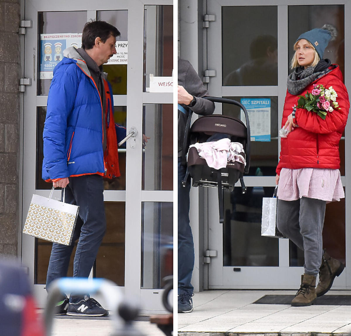 Joanna Moro wyszła z córką ze szpitala