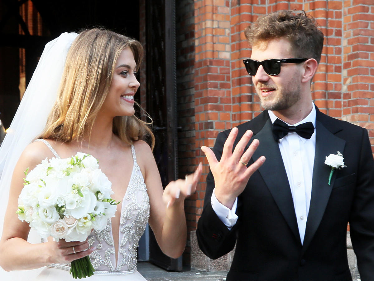 Joanna Opozda i Antoni Królikowski w dniu ślubu